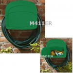 Wall-mounted hose bracket with storage box