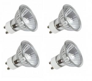 4x GU10 Halogen Reflector Bulbs