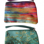 TaylorHe small cosmetic bag/purse .Sunset / Almond Blossom