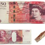 Novelty £50 Note Canvas Wallet Gift Pouche