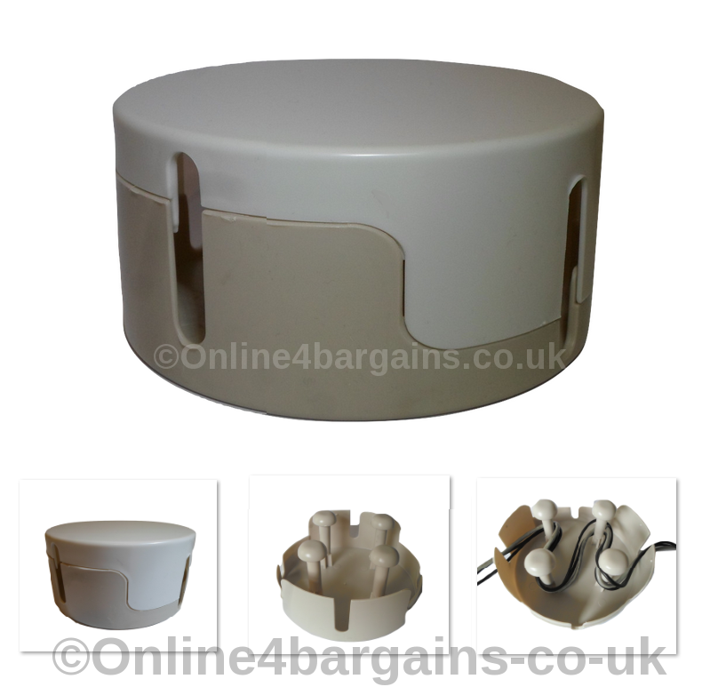Large Round Cable Tidy Box .Office Living room Wire ...