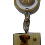 LP Pets Border Terrier Key Ring with Shopping Trolley Coin