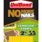 Unibond UNI781739 No More Nails Strip Ultra-strong Removable Translucent - Pack of 10