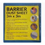 Blue Water Resistant Fabric Barrier Dust Sheet 3m x 3m Washable & Reusable
