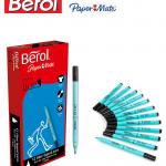 Berol Black Water-Based Colourfine Pens .Pack of 12
