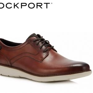 Rockport Brown 'Garett' Derby Plain Toe Shoes UK size 8 CH4295