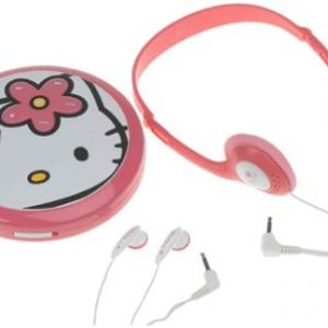 Hello Kitty Personal CD Player with matching headphones