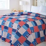 Catherine Lansfield Home Nautical Patchwork Quilted Bedspread 240 x 260 Cm