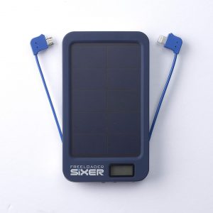 Freeloader SiXER Weatherproof Portable Solar Power Bank - Blue
