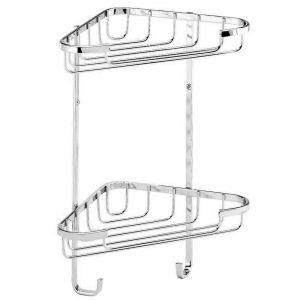 Croydex Medium 2-Tier Corner Basket