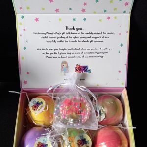 MerryGoPlay Girls Bath Bombs Gift Set with Surprise Charm Bracelets inside