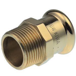 """VSH XPress Straight male connector, press-fit x BSP taper male thread - 15mm x 1/2"""" BSP TM"""